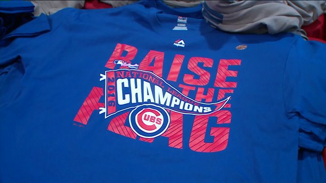 Cubs championship gear already a hot commodity