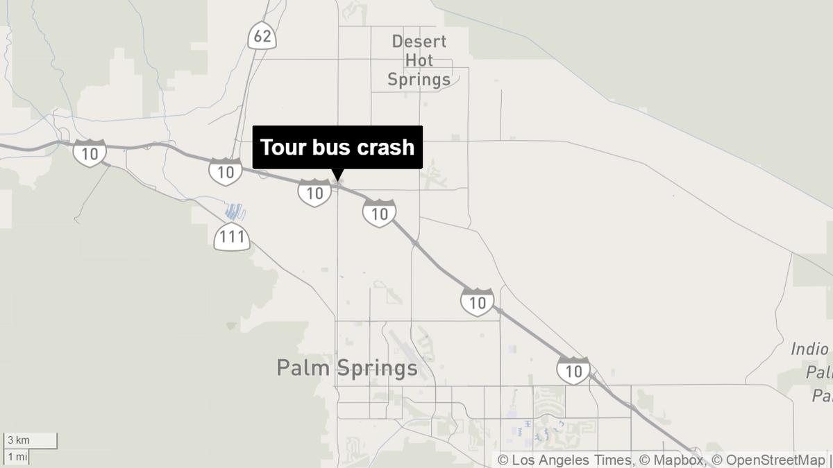 Fatal tour bus crash closes westbound Interstate 10