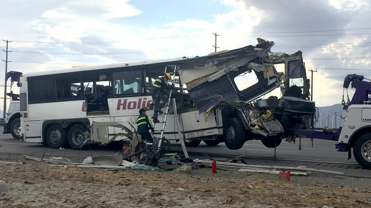 Local hospitals flooded with victims of tour bus crash