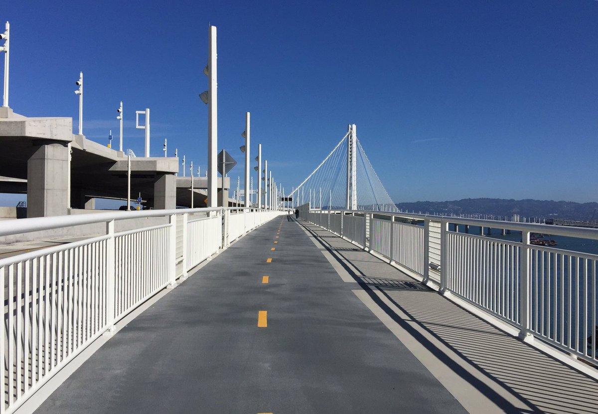 BayBridge bike/ped path now open all the way to Treasure Island. Enjoy and ride safe!
