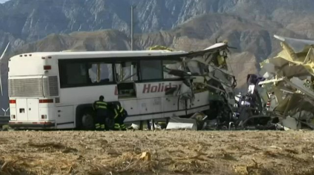 13 Killed, 31 Injured After Tour Bus Crashes Into Big Rig In The Desert