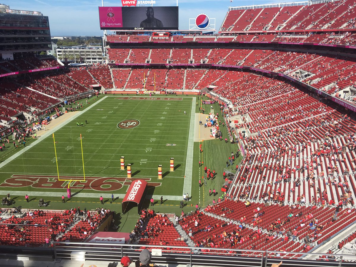 20 minutes before kickoff. Turnout Looks like an A's game. @LevisStadium @49ers 49ers