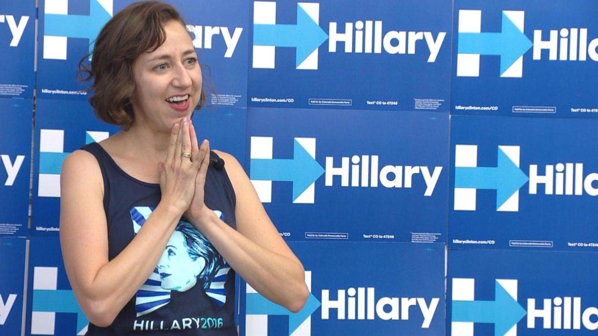 Actress Kristen Schaal Stumps For Hillary Clinton In Boulder