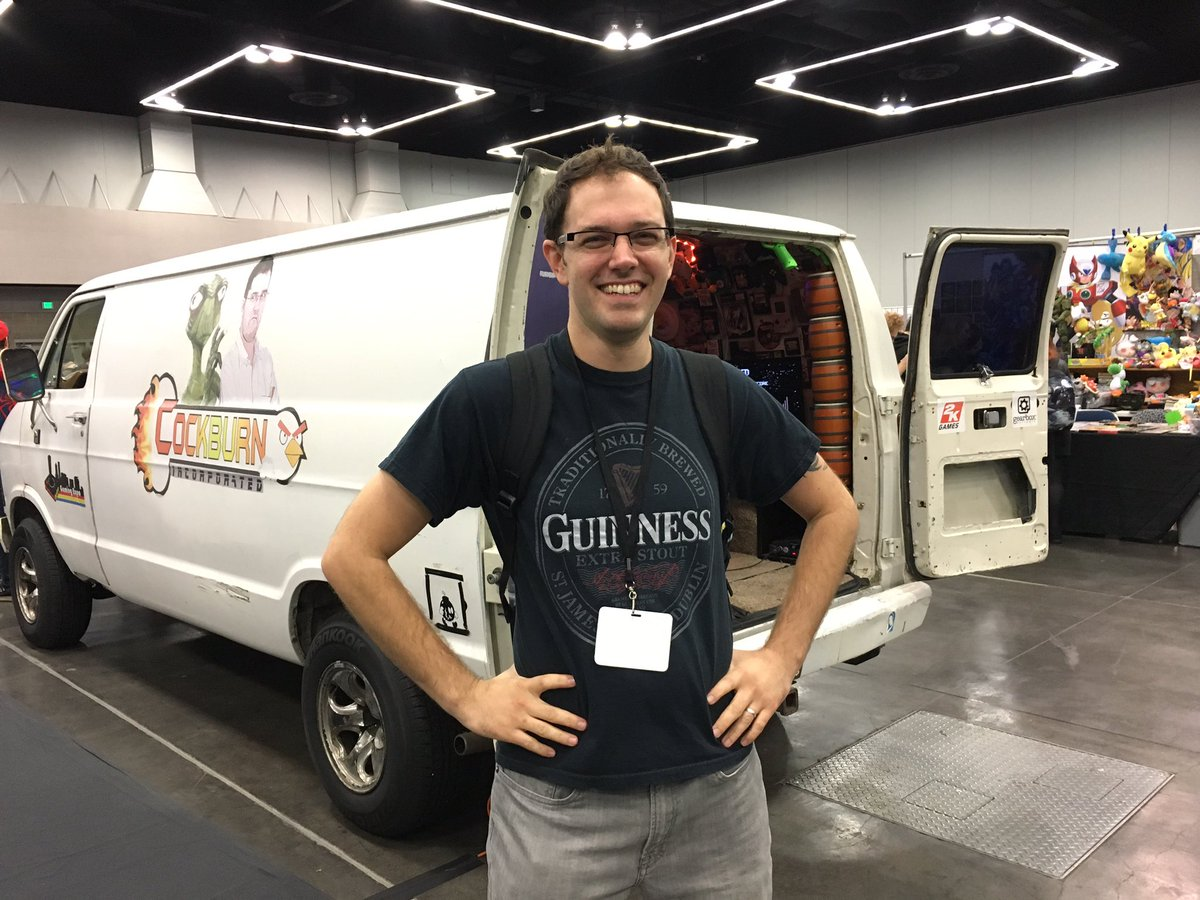 Photo of James Rolfe  - car