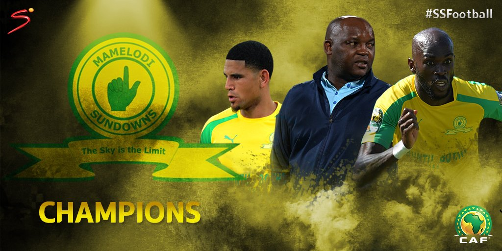 SUNDOWNS HAVE DONE IT!  @Masandawana  are the #CAFCL Champions, beating @ZSCOfficial  3-1 on aggregate.
