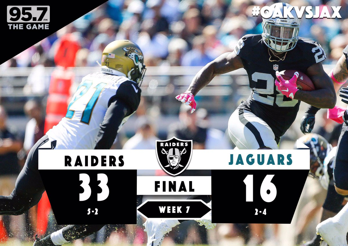 FINAL: A convincing win for the @Raiders in Jacksonville!