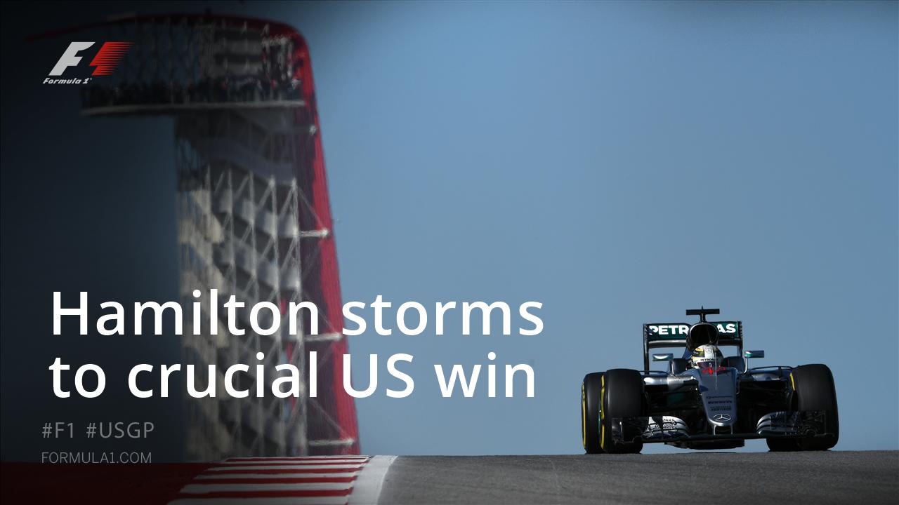 Fórmula 1 Gran Premio de Estados Unidos Austin 2016 / Crónica