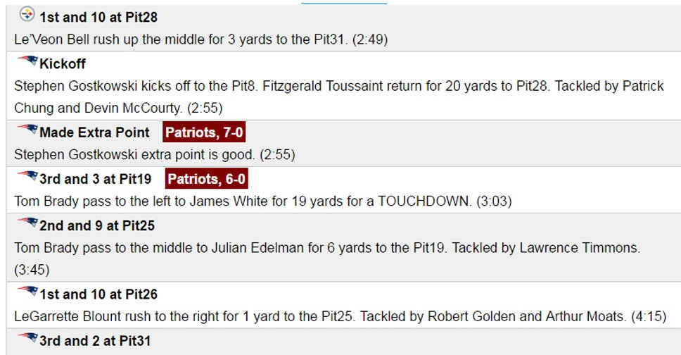 If you can't watch the Patriots game, follow along with our play-by-play: NEvsPIT