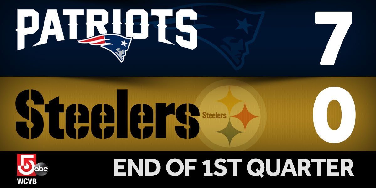 Patriots looking good after 1st quarter in Pittsburgh. NEvsPIT