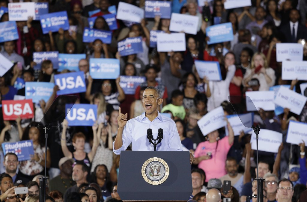 Obama focuses on Nevada Senate race, castigates Republican candidate for support of Trump