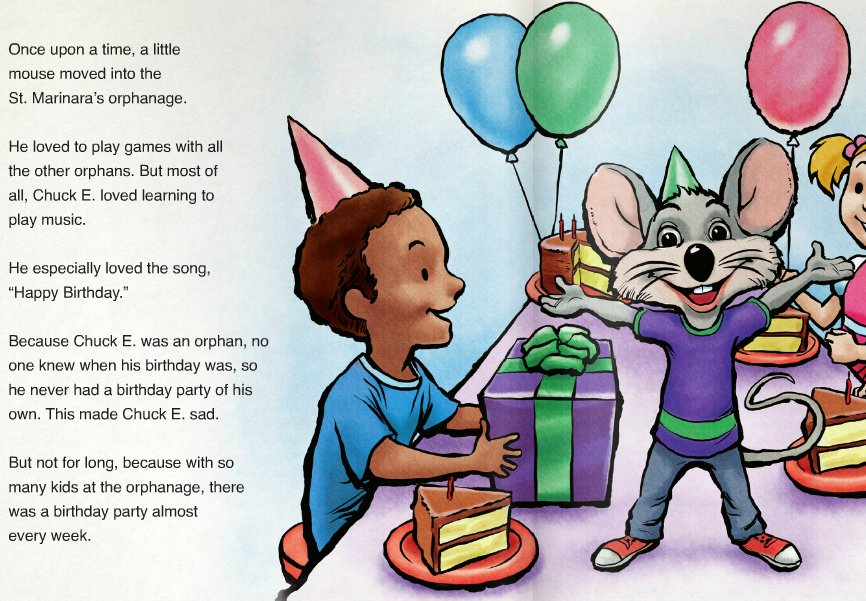 CHUCK E. CHEESE WAS AN ORPHAN WHO DIDNT KNOW HIS BIRTH DATE AND NEVER HAD A BIRTHDAY PARTY https://t.co/tscPLkS51b
