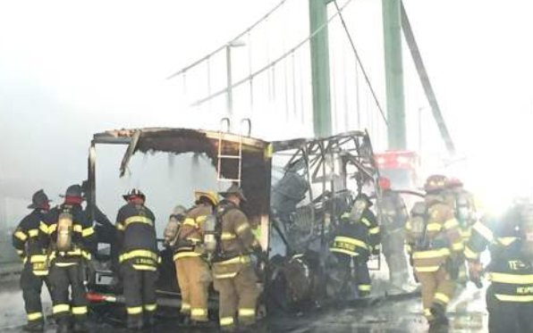 UPDATE: Vehicle carrying marijuana-laced candy catches fire on Delaware Memorial Bridge