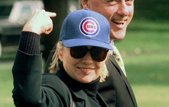 Hillary Clinton's excited face is every @Cubs fan right now: https://t.co/jG8aoYTxNr https://t.co/XfCkj1UDXL