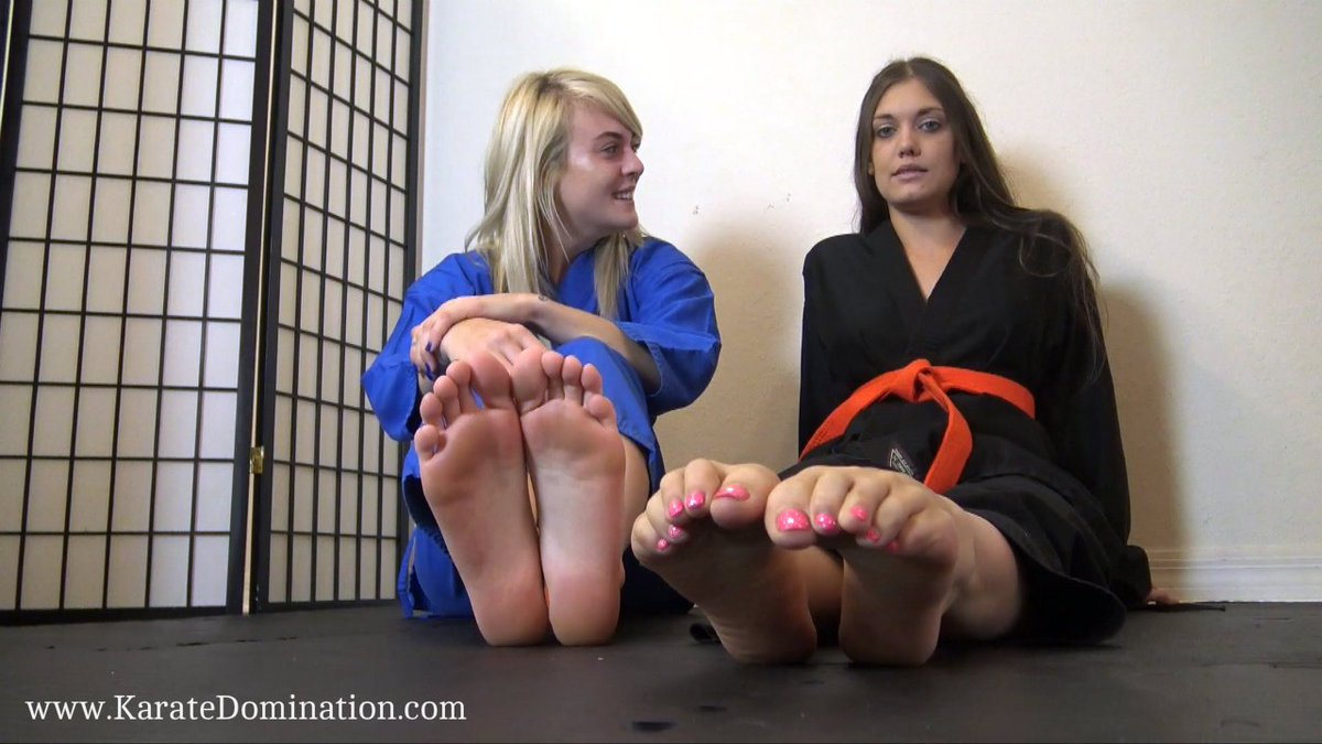 Bratty & #Barefoot #Karate Girls @AndiLaurenPage & @ScarletHart90 #POV #CBT  & #BallBusting #FootHumiliation on http://www.