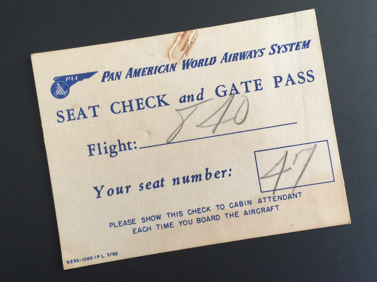 Yes. This is a boarding pass from 1950. How things have changed. https://t.co/7arW6YfhV2