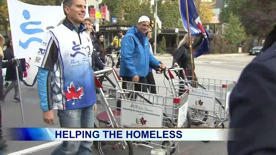 Marching to prevent homeless youth in Canada