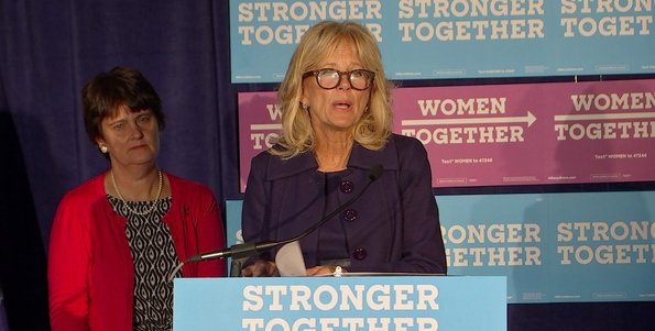 Dr. Jill Biden and Anne Holton campaign for Clinton-Kaine ticket in Center City