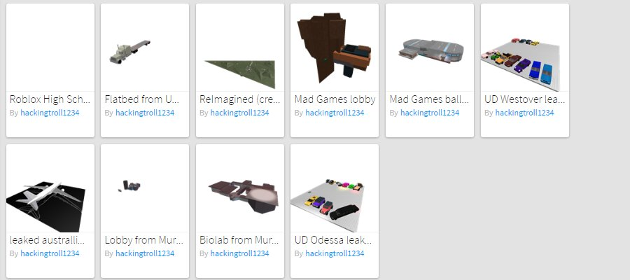 ROBLOX Leaked Games (@HACKINGTROLL) | Twitter