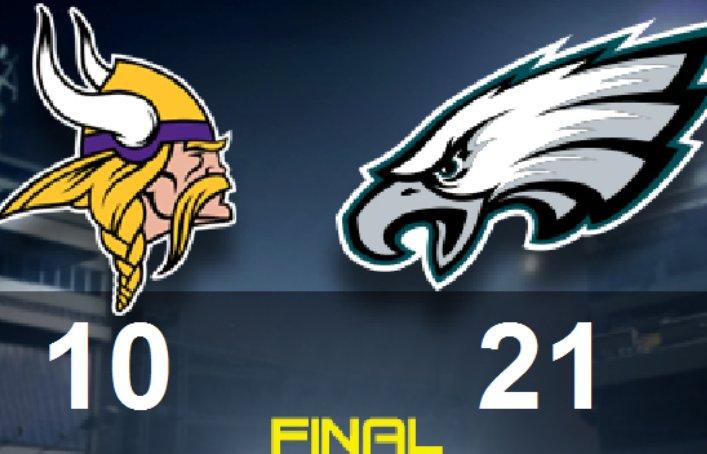 Eagles beat up Bradford, hand Vikings first loss 21-10