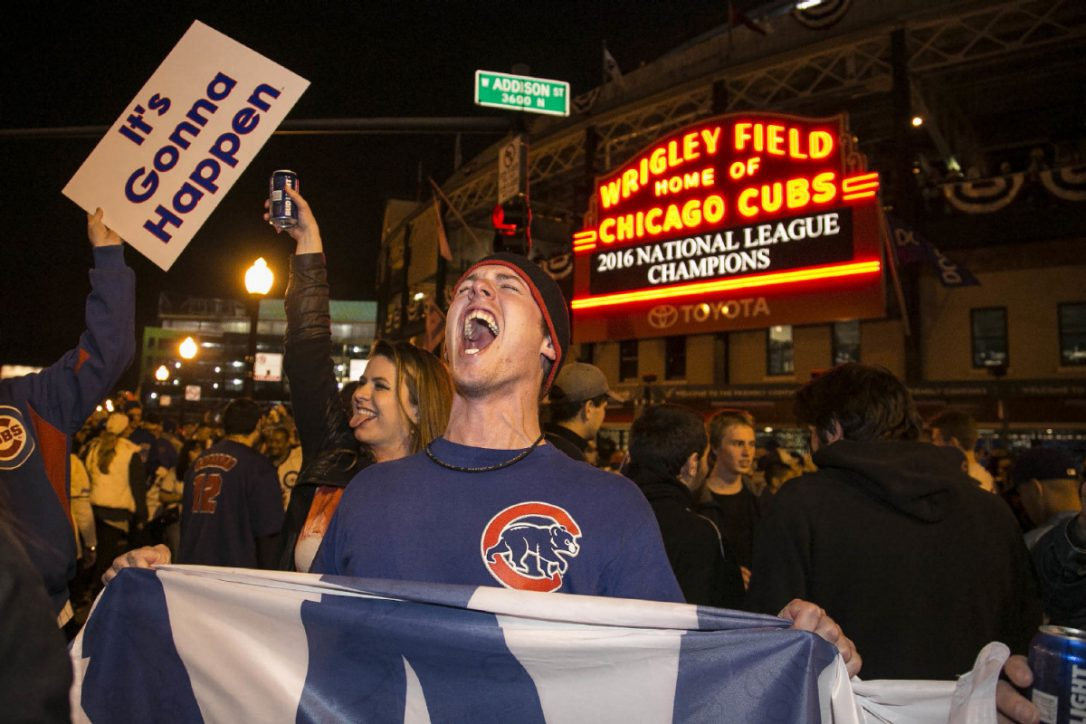 Overjoyed Chicago Cubs fans turn attention to club's first World Series in 71 years