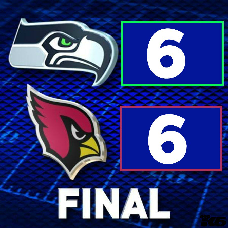 Seahawks TIE for the first time ever. SEAvsAZ