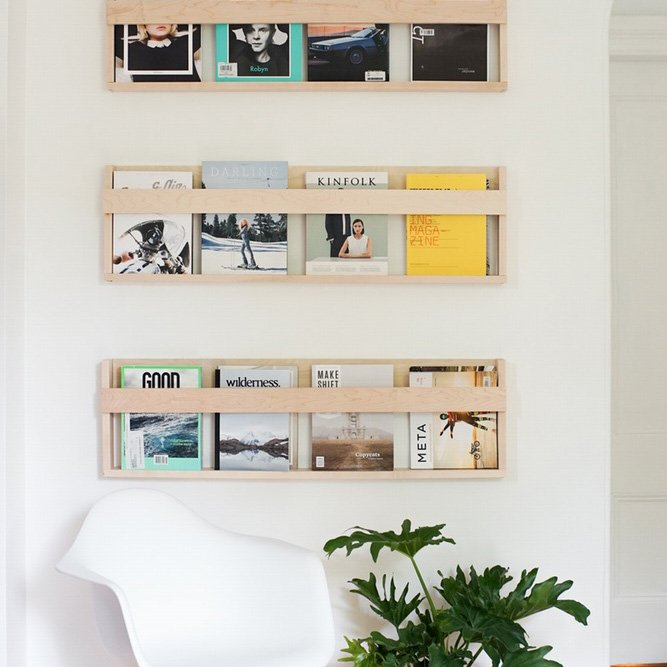 DIY magazine racks neat tidy organized