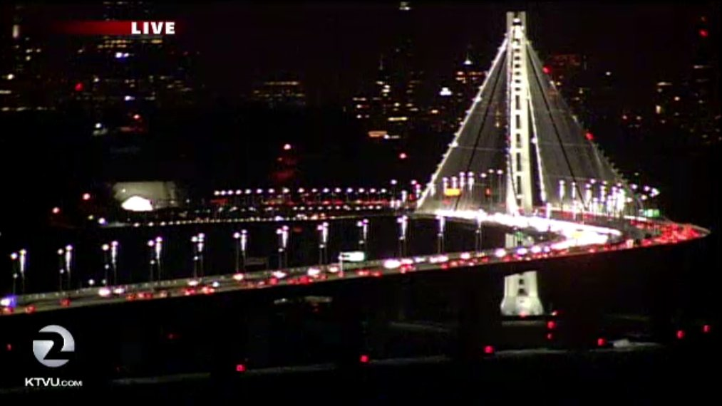 Outside right now. BayBridge.