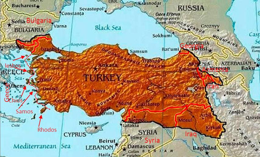 John Jacobs on Twitter Erdogan draws map bigTurkey with areas
