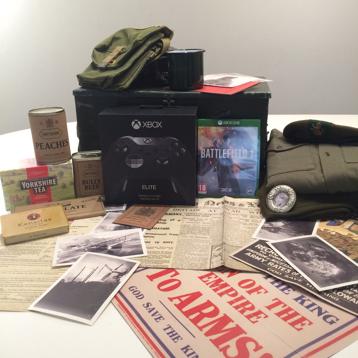 RT + Follow for your chance to WIN a great big bundle of #Battlefield1 gaming goodies and an Xbox Elite controller 🎮 https://t.co/lAzKijo7Kn