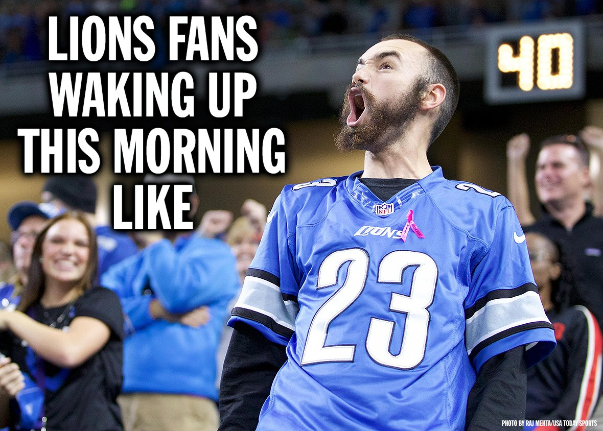 The morning after a Lions win.