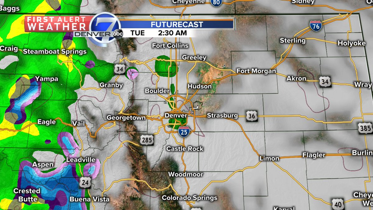 A few showers are possible on Tuesday, but temps will remain mild. 70s all week long! cowx @DenverChannel