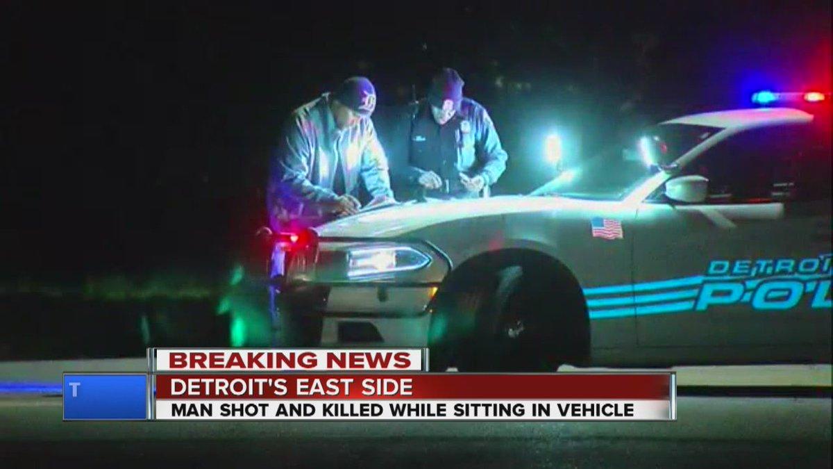 Man found shot to death inside vehicle on Detroit's east side