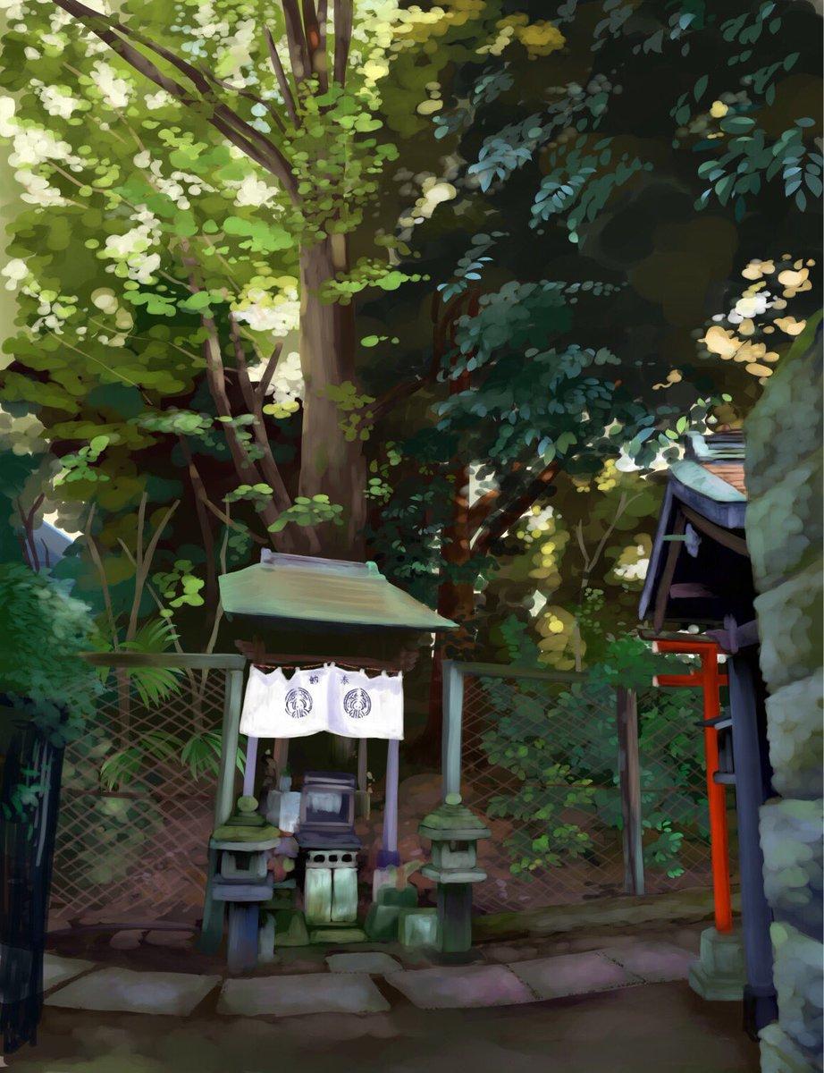 """みるみる on twitter: """"南池袋の神社…薄暗くて神秘的でした(^ω"""
