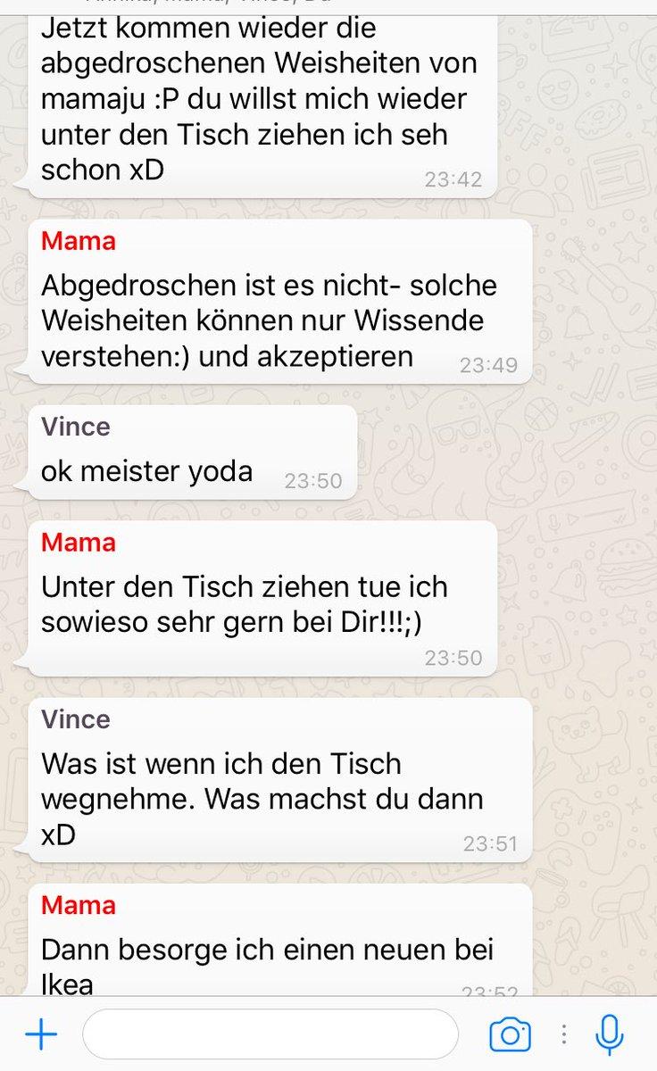 Wenn sich meine Mama und @vincentleemusic mal wieder bei Whatsapp streiten 😂