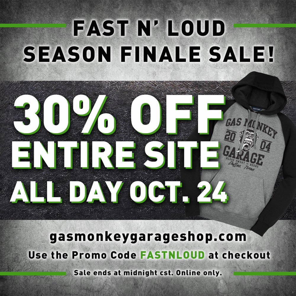 We have 10 gas monkey garage coupons for you to consider including 10 promo codes and 0 deals in November Grab a free layoffider.ml coupons and save money.5/5(1).