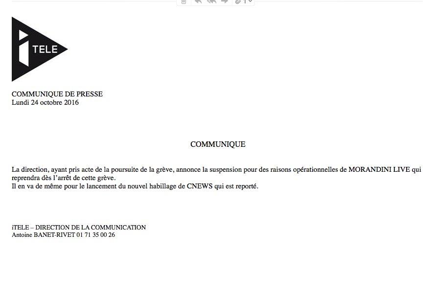 Une autre vision de la négociation : «Si vous retournez bosser on remet Morandini»