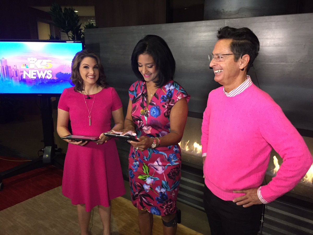 Pink is the color of choice this morning! Talking Race for the Cure right now!