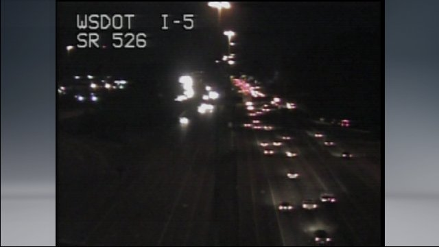 stall on the right side SB 5 after SR 526 k5traffic