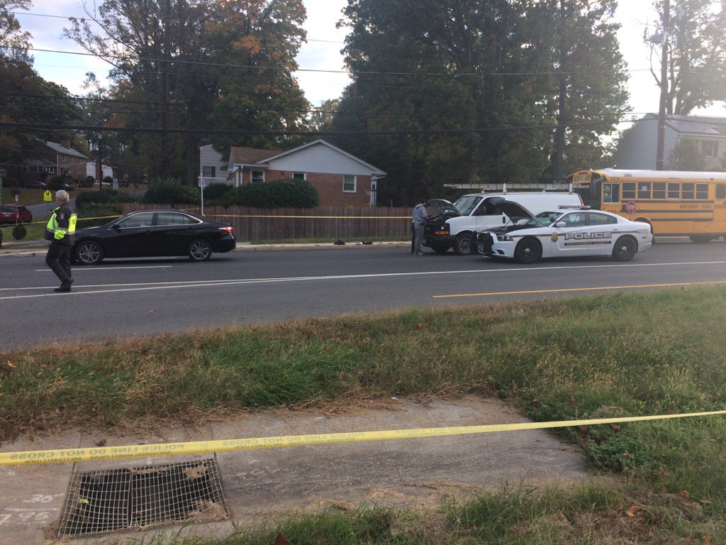 Accident on Georgia Avenue now a fatality. One man died after being hit by 4dr Camry at Regina Drive