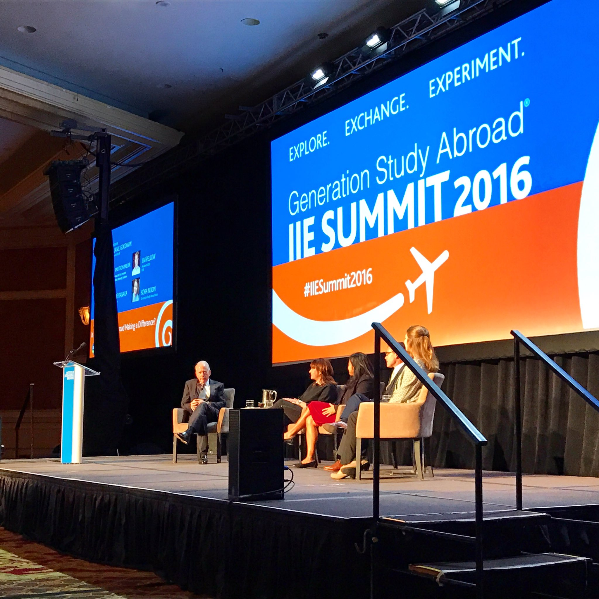 Kicking off the opening plenary at @IIE_Summit in DC with  @PellowCIEE, @IIEGoodman, and friends! #generationstudyabroad #IIESummit2016 https://t.co/CbXa0221nJ