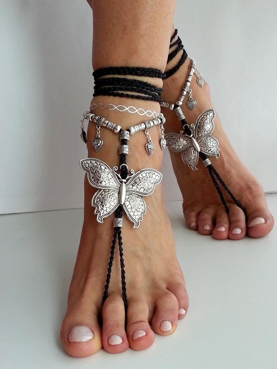 f9cc8062fbb6f Butterfly barefoot sandals Hippie sandals Black Boho Magenta crochet sandal…  http   tuppu.net 4a677297  HippieSandals pic.twitter.com WIpxlTGFST