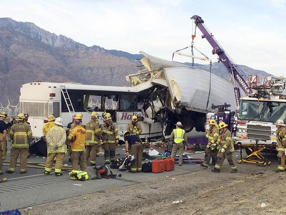 13 killed, 31 hurt in one of California's deadliest wrecks.