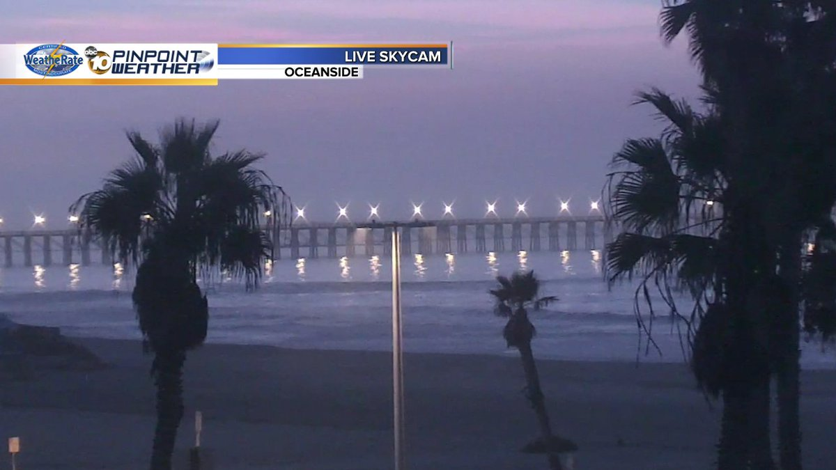 Been watching lightning light up the sky in Oceanside as the band of storms moves into the coast! @10News