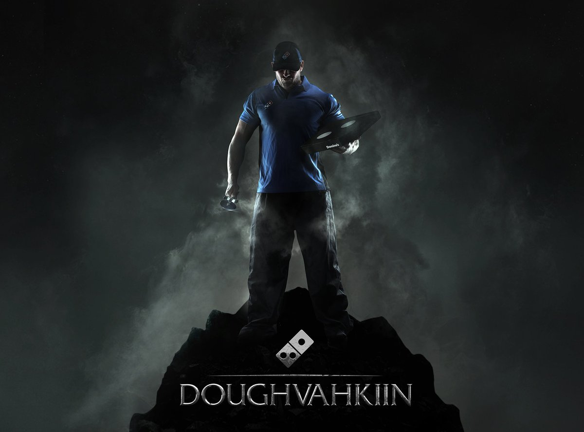 FUS RO DAAHHHHHHHH YEAH! Nosh-talgia-licious! The Pizza Born is ready... #SkyrimSpecialEdition #Doughvahkiin