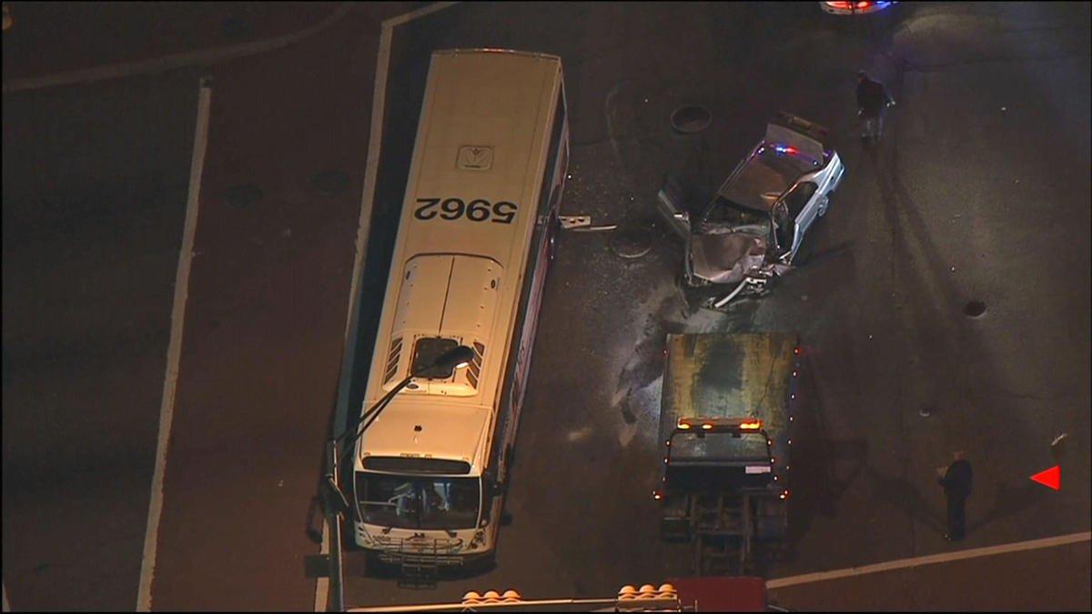 Dozens taken to hospital after NJ Transit bus and car collide