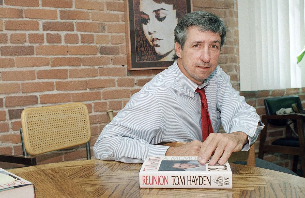Tom Hayden, famed 1960s anti-war activist, dies at 76