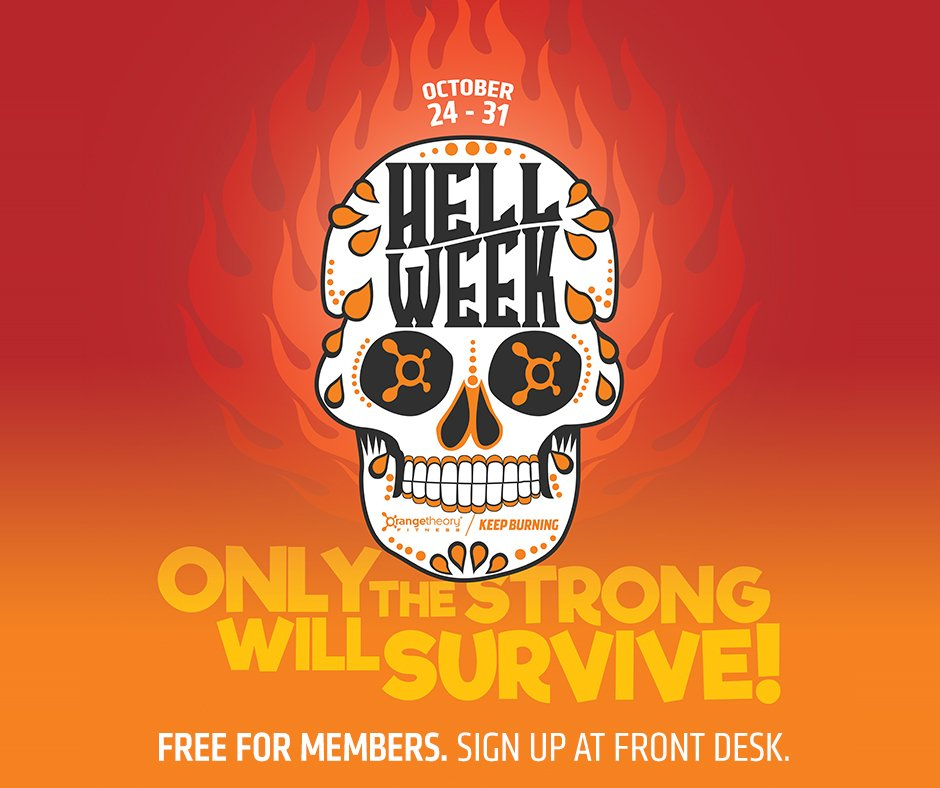 Day one, people. Don't let Hell Week spook you! Get in there and give 'em HELL! #KeepBurning https://t.co/LNYuLyd0aG