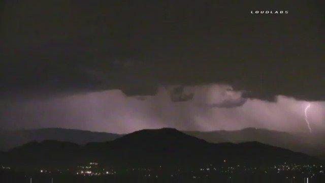 Overnight lightning storm above Jurupa Valley