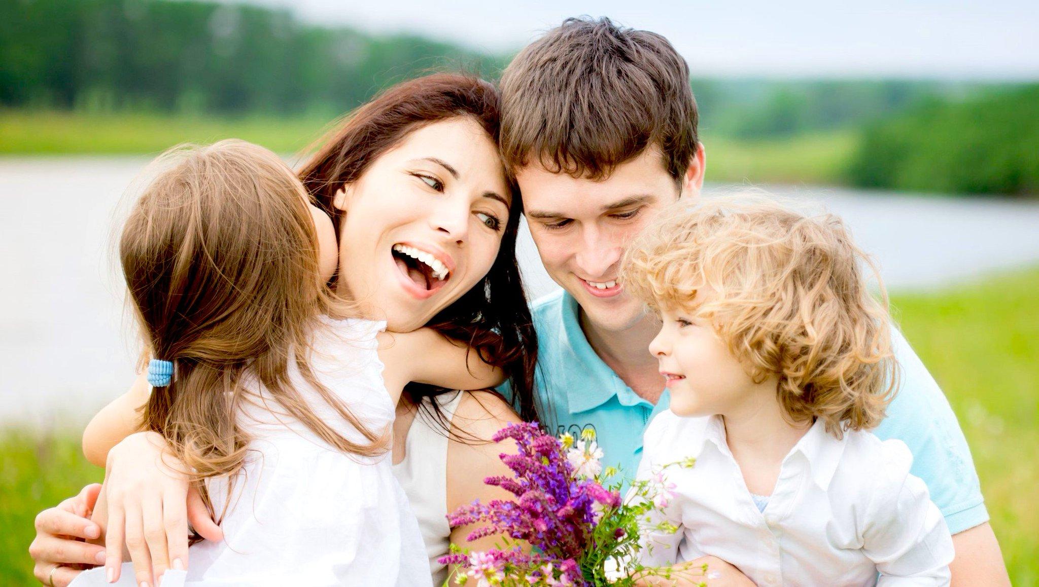 Написать, картинки счастливые дети и родители