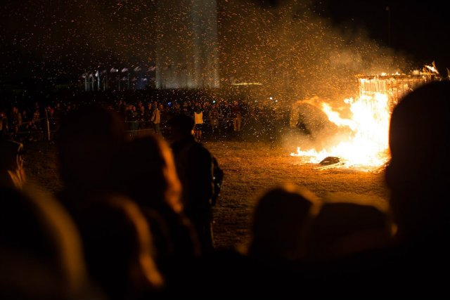 D.C. meets Burning Man when organizers set a ceremonial temple ablaze on the Mall in Nov.